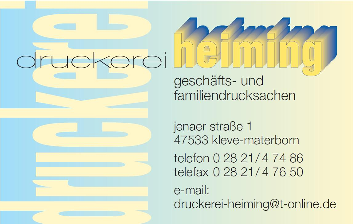druckerei heiming